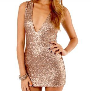 Tobi Sequin Beautiful Dress Fitted Bodycon XS